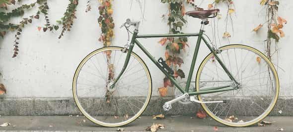bike against wall